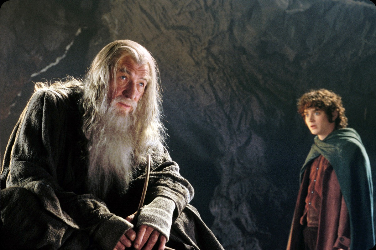 "Gandalf (L) and Frodo (R) in ""The Lord of the Rings"""
